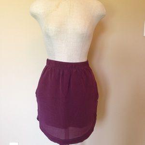 Madewell sun garden shirt tail silk skirt